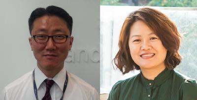 왼쪽부터 한국애브비 김동욱 상무, 최옥희 상무.