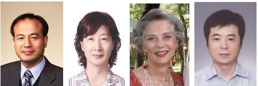 (왼쪽부터) 강창율 교수, 구인회 교수, 크리스틴 볼머 여사, 윤경중 부장