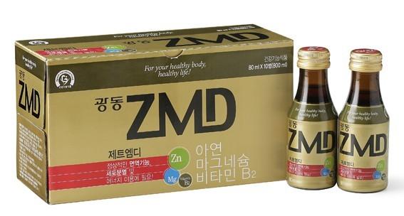 지난 6일 출시한 광동제약의 아연음료 ZMD.