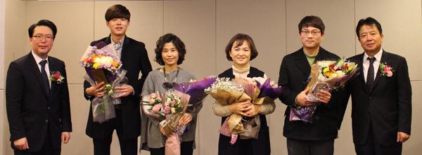 우수상 수상자들 사진 왼쪽 두번째부터 조형호약사, 박미향약사, 최연약사, 안홍섭약사.