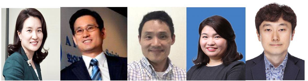 (왼쪽부터) 김선아 부사장, 정현석 전무, 김유섭 상무, 최정화 부장, 황지현 부장