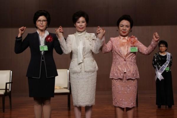(왼쪽부터) 대한미용사회 중앙회 23대 회장 선거에 출마한 엄둘자 후보, 이선심 후보, 최영희 후보.
