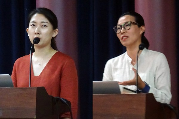 안소정 일동제약 품질경영실 CS팀 차장(왼쪽)과 오영미 텐지노그룹 대표