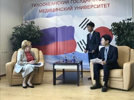 러시아 보건부 장관과의 면담