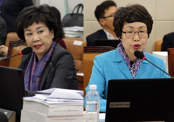 김순례 의원(왼쪽)과 권미혁 의원