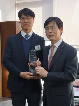 왼쪽부터 그린스토어 정석빈 부사장, 성남시 김진흥 부시장.