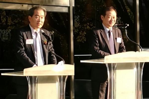 이봉진 서울대 약대 학장(왼쪽)과 신희영 서울대 연구부총장