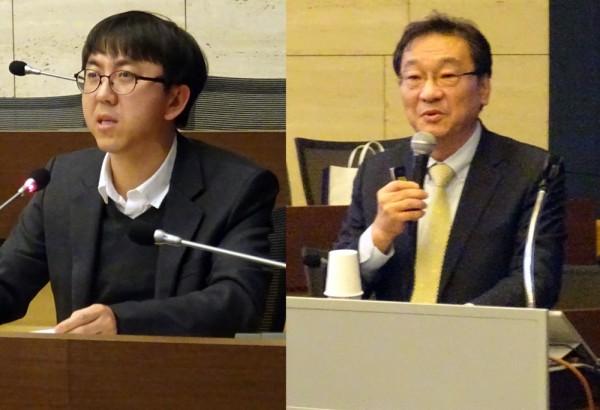 복지부 임강섭 서기관(왼쪽)과 송시영 총괄위원장