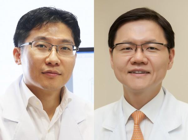 서울아산병원 융합의학과 박윤용(좌), 소화기내과 명승재 교수(우)