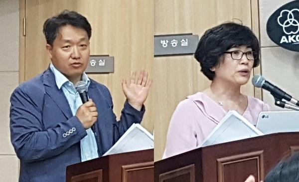 복지부 곽명섭 과장(왼쪽)과 심평원 박영미 부장