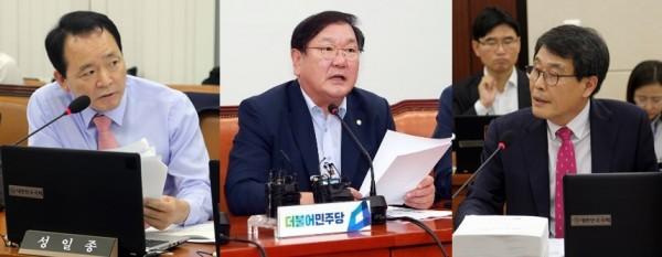 (왼쪽부터)성일종 한국당 원내부대표, 김태년 민주당 정책위의장, 김광수 민주평화당 의원