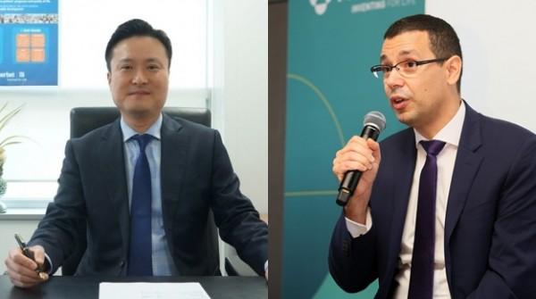 강승호 게르베코리아 대표이사(왼쪽)와 아비 벤쇼 KRPIA 회장