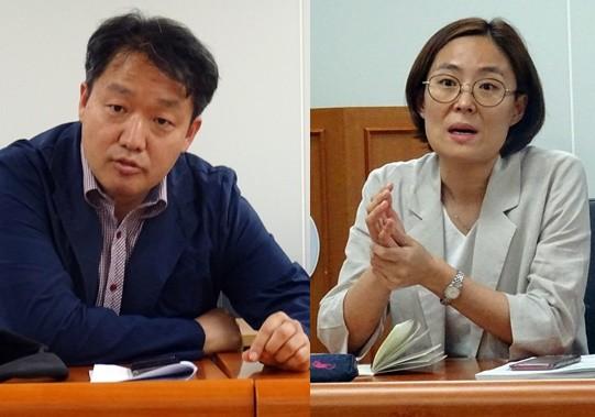 복지부 곽명섭 과장(왼쪽)과 구미정 사무관