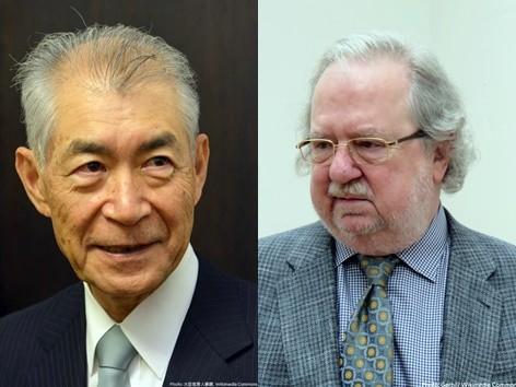 2018년 노벨 생리의학상을 수상한 타스쿠 혼조 교수(왼쪽)과 제임스 앨리슨 교수(출처: 노벨상 공식 트위터)