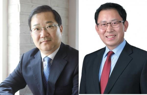 (왼쪽부터) 김대업 후보, 최광훈 후보