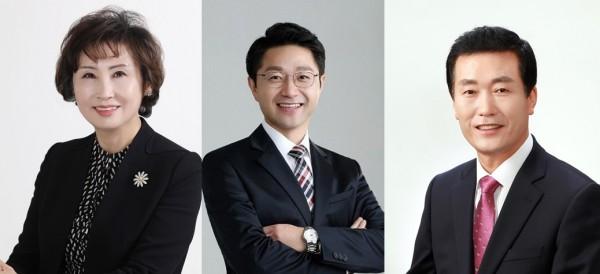 (왼쪽부터) 서울 한동주, 부산 변정석, 대구 조용일 당선인