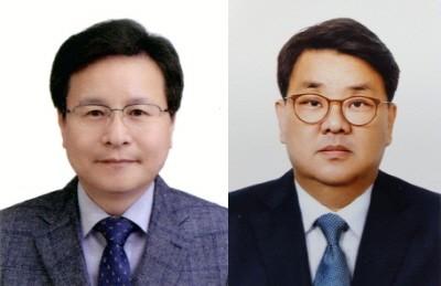 왼쪽부터 한국팜비오 조용백 연구소장, 최기환 전무.