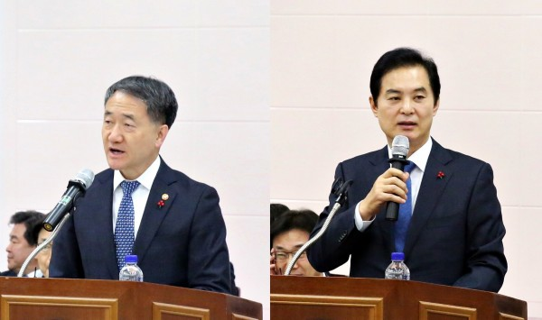 (왼쪽부터) 박능후 복지부장관, 유영진 식약처장