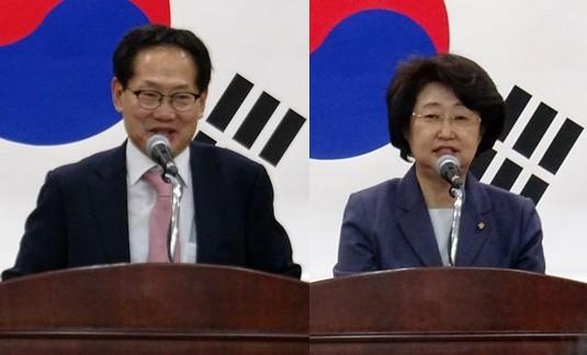 오제세 의원(왼쪽)과 김승희 의원