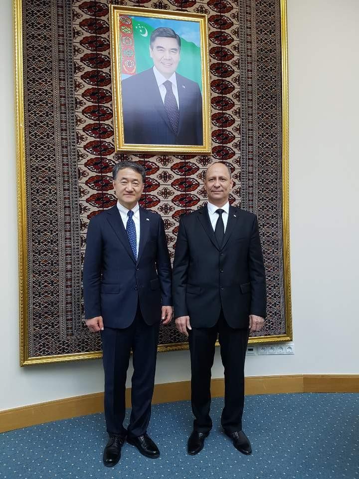 박능후 장관과 투르크메니스탄 보건부 장관