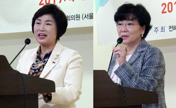 전혜숙 의원(왼쪽)과 이은숙 병원약사회장