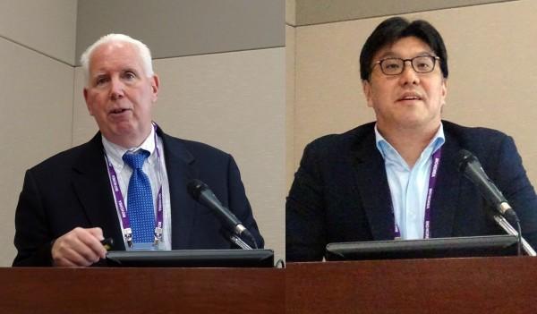 데이비스 로젠 폴리앤라드너 LLP 변호사(왼쪽)와 윤동민 아주 IB투자 이사