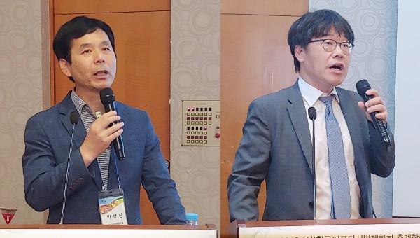 박상신 제약협동조합 실장(왼쪽)과 박정일 변호사