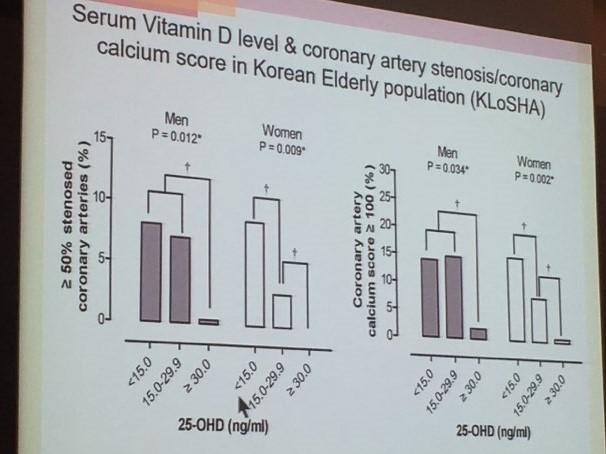 비타민D와 동맥협착층,석회화 연계성 KLoSHA연구결과