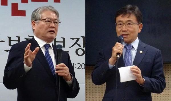 김용익 건보공단 이사장(왼쪽)과 권덕철 복지부 차관