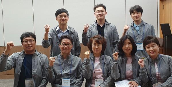 정현철 광주광역시약사회장과 임원들.