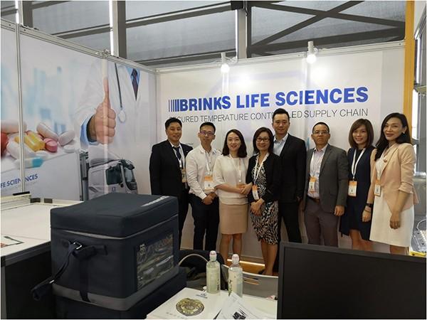 CPhI China 2019 브링스글로벌 부스와 브링스 온도유지 패키지