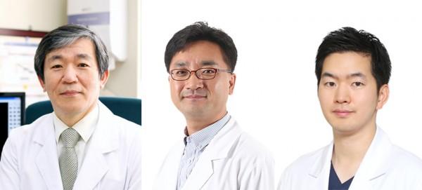 (사진 좌측부터) 고려대구로병원 심혈관센터 서홍석, 나진오, 강동오 교수