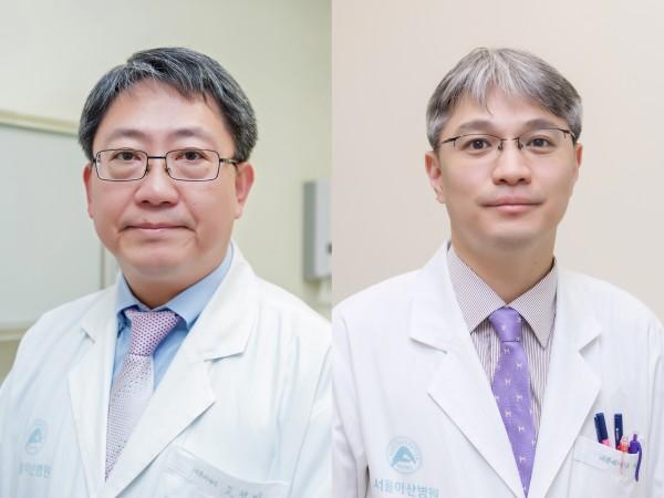 (왼쪽부터) 서울아산병원 내분비내과 고정민, 이승훈 교수