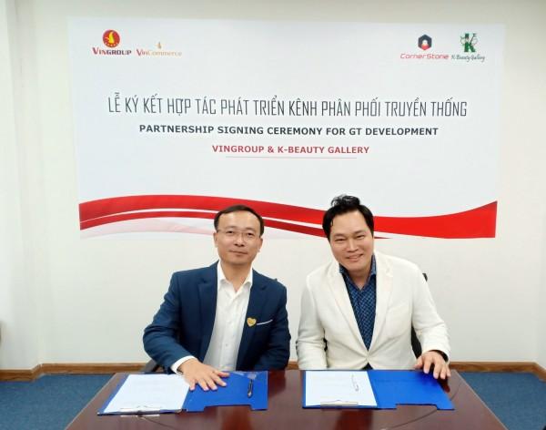 (왼쪽) Nguyen Ngoc Thang Vincommerce 부사장 (오른쪽) 이풍락 베트남 화장품 판매장 센터장(코너스톤 대표)