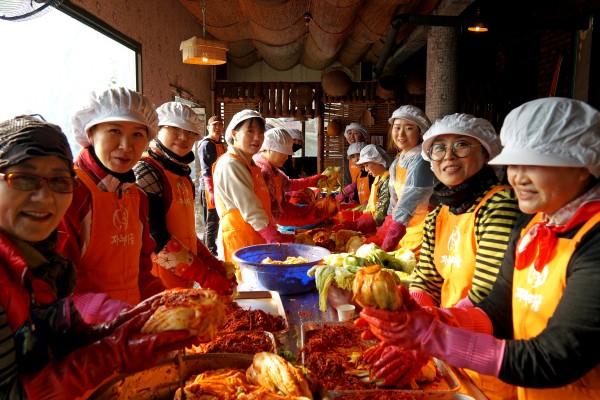 김장 김치 담그기 지역사회 활동