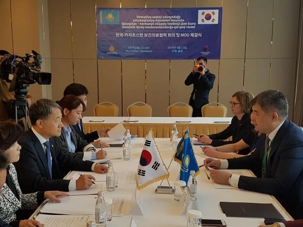 복지부-카자흐스탄 보건부 장관 4월 22일 보건의료협력 MOU체결