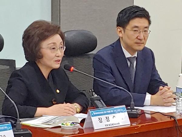 장정숙 의원(왼쪽)과 김세연 의원