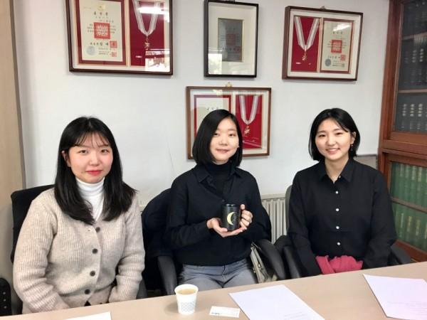 왼쪽부터 전세빈, 박혜원, 김예지 학생