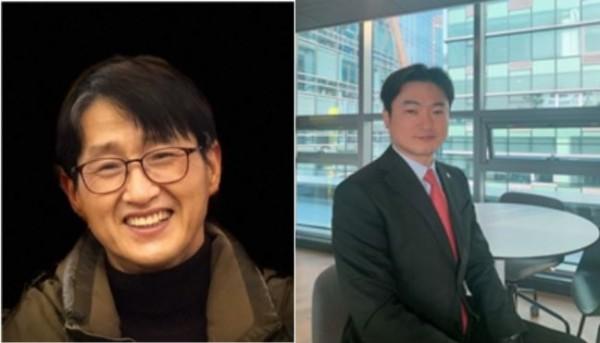 왼쪽부터 정하종 전무, 김형석 상무