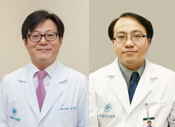 (왼쪽부터)서울아산병원 소화기내과 변정식 교수, 융합의학과 김남국 교수
