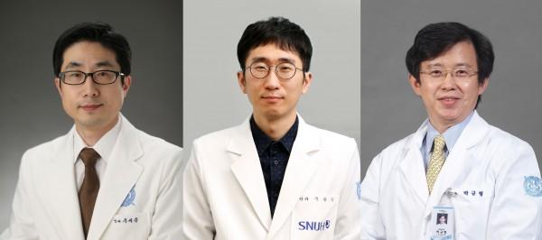 분당서울대병원 안과 우세준 교수, 주광식 교수, 박규형 교수(좌측부터)