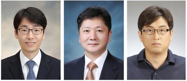 왼쪽부터 한기훈 교수, 최세영 교수, 이계주 연구그룹장