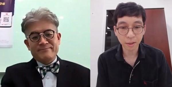 이형기 교수(왼쪽)와 최경호 복지부 사무관