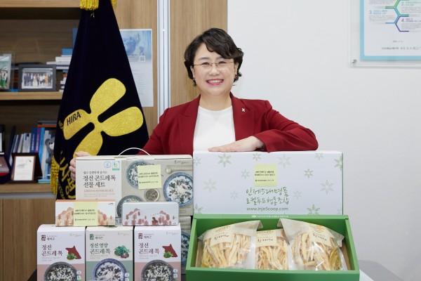 핸드인핸드 캠페인에 참여하는 김선민 심사평가원장