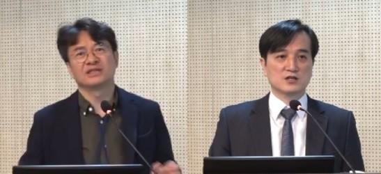 (왼쪽부터)김용성 교수, 정철웅 상무