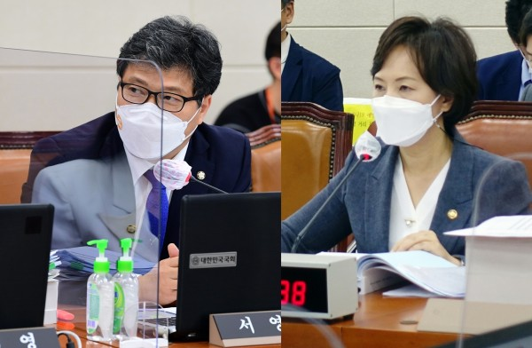 서영석 의원(왼쪽)과 이의경 처장(국회 전문기자협의회 사진 제공)