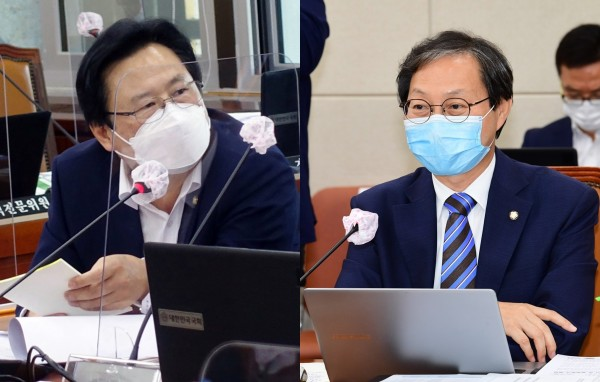 보건복지위원회 강기윤 국민의힘 간사(왼쪽)과 김성주 더불어민주당 간사