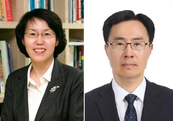 임혜숙 신임 과기부 장관 내정자(왼쪽)와 문승욱 신임 산업부 장관 내정자.