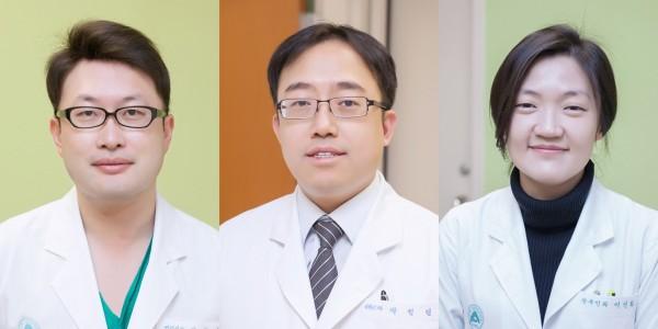 (왼쪽부터)서울아산병원 산부인과 김대연, 박정열, 이신화 교수