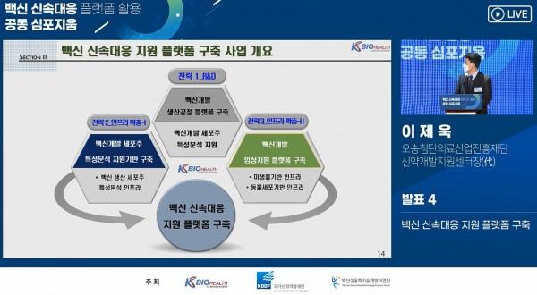 오송첨단의료산업진흥재단 이제욱 신약개발지원센터장